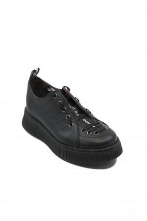 Pantofi sport damă Ayma negri, din piele naturală