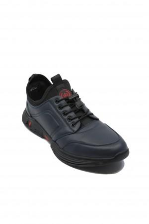 Pantofi sport Franco Gerardo bleumarin din piele naturală