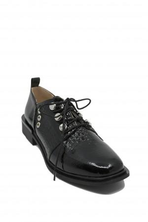 Pantofi damă Karolina negri din lac
