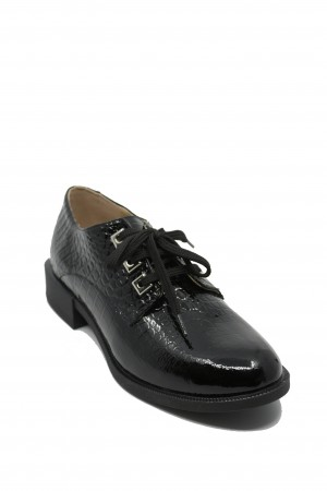 Pantofi damă Sami negri din lac