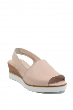 Sandale damă rose din piele naturală moale