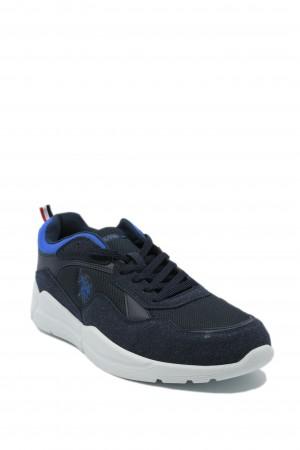 Pantofi sport bărbați bleumarin din material textil, Callum by US POLO ASSN
