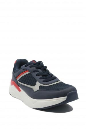 Pantofi sport bărbați bleumarin din material textil, Sun by US POLO ASSN