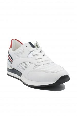 Pantofi sport damă alb clasic, din piele naturală