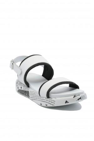Sandale damă Lua albe din piele naturala