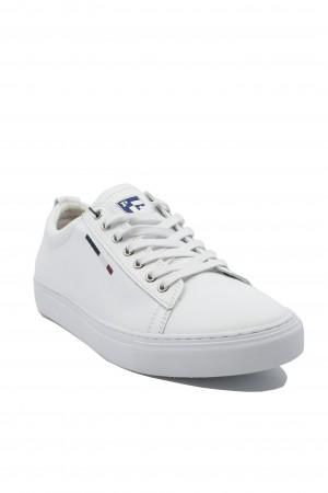 Pantofi sport albi bărbați, Beker by US POLO ASSN