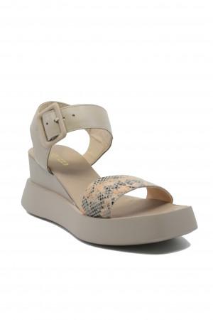 Sandale damă Eve taupe din piele naturala