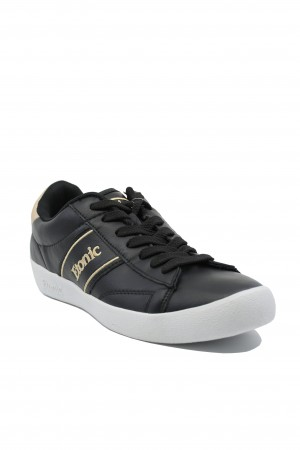 Pantofi sport bărbați Etonic negri cu auriu