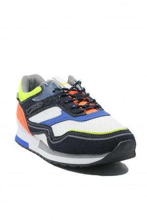 Pantofi sport bărbați Gas Sinder Mix alb-neon
