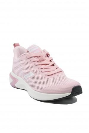Sneakers roz damă din material textil plasă