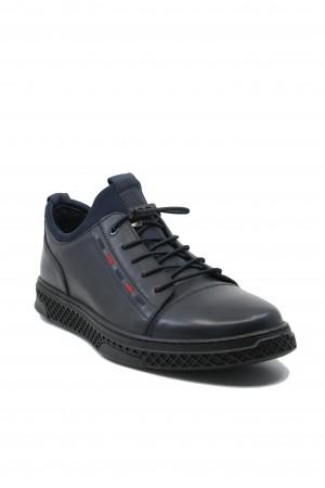 Pantofi sport slip-on bărbați, bleumarin, din piele naturală