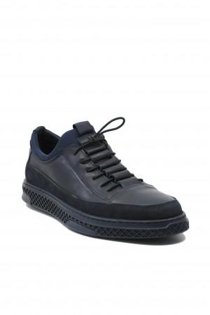 Pantofi slip-on bărbați, bleumarin, din piele naturală