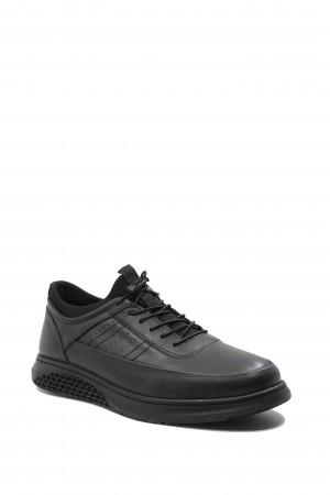 Pantofi comozi bărbați, negri, din piele naturală