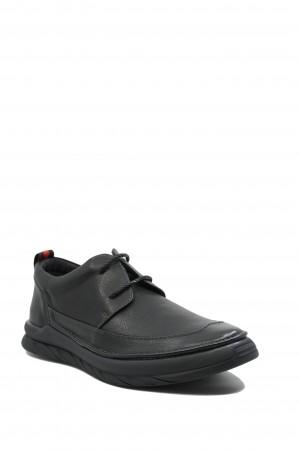 Pantofi casual bărbați Battisto Lascari, negri, din piele naturală