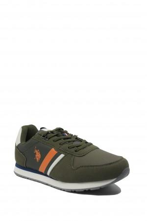 Pantofi sport damă Nobi kaki militar, US POLO ASSN