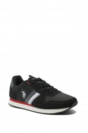 Sneaker bărbați, negri, Nobil by US POLO ASSN