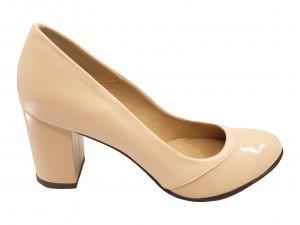 Pantofi damă eleganți nude din piele naturală